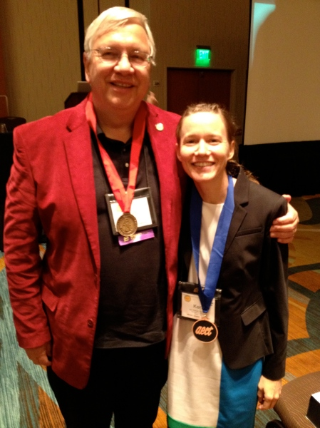 Dr. Thomas Reeves and I proudly wearing our medals.